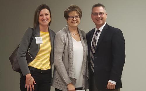Melissa Hilvers, Barb Elking, and Jeff Hazel Celina Mayor